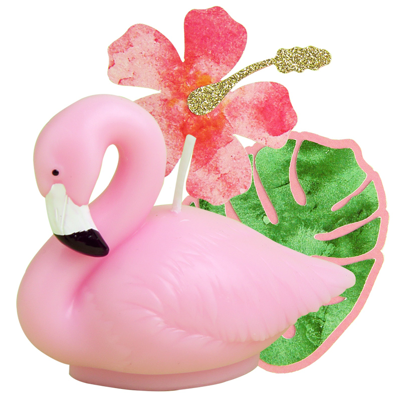 Children Birthday Party Creative Cake Decorative Flamingos Birthday Candle  Dessert Terrace Scenes Arrangement Decoration Smoke In Party DIY  Decorations From ...