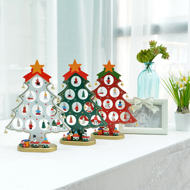 3d wooden assembling hollow christmas tree christmas table decorations gifts bedroom home decor navidad decoraciones - Wooden Christmas Table Decorations