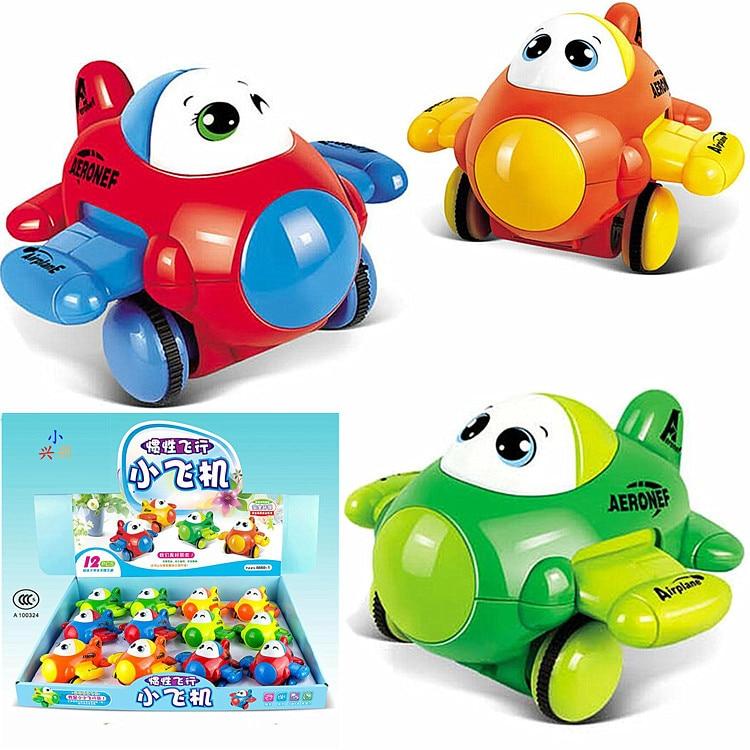 Mini Plane Kindergarten Inertia Cartoon Swing Plane Educational Toy Infant Toy Small Plane