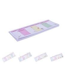 40 листов корейский мини Еженедельный план планировщик наклейки милые животные Цветочные липкие Note Post Agenda Канцтовары офисный школьный принадлежности