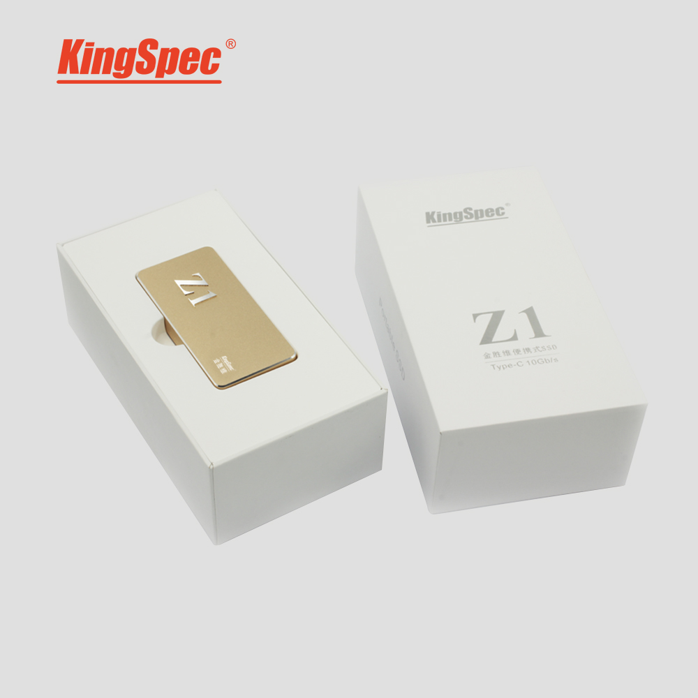 Prix pour 2016 NOUVEAU KingSpec Z1 Externe Portable SSD USB3.1 Gen.2 10 Gbps 120 GB 128 GB Solid State Disque Dur Disque 120 GB les deux côtés insérer