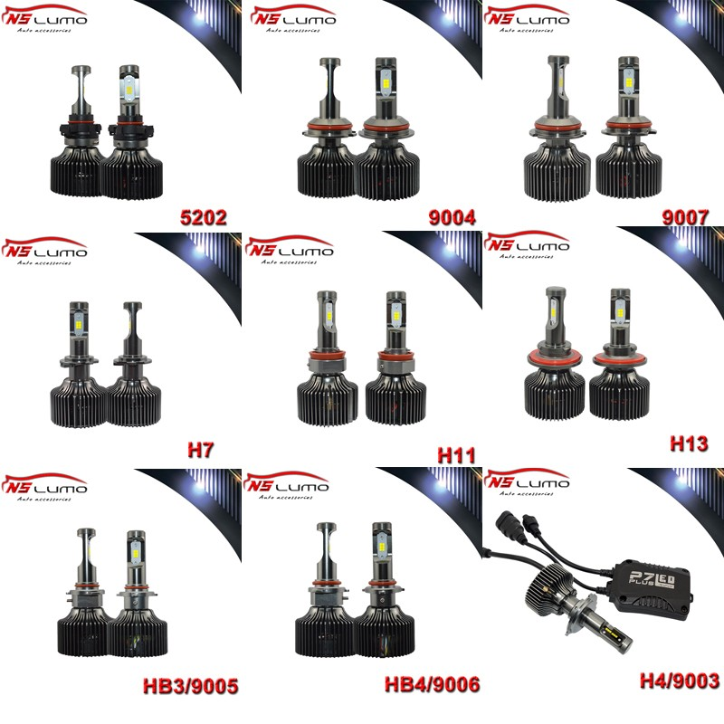 ФОТО Newsun 2PCS 5000LM For H4 Car LED Headlight Conversion Kit H4 HB2 9003 H7 H8 H9 H11 H13 9004 9005 HB3 9006 HB4 9007 parking drl