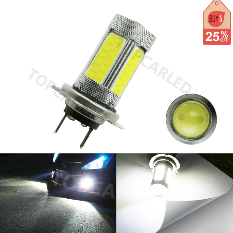 Super High Power 20W H7 COB LED White Car Daytime Running Light Car Lamp Bulb for Fog Driving / DRL 1pcs high power h3 led 80w led super bright white fog tail turn drl auto car light daytime running driving lamp bulb 12v