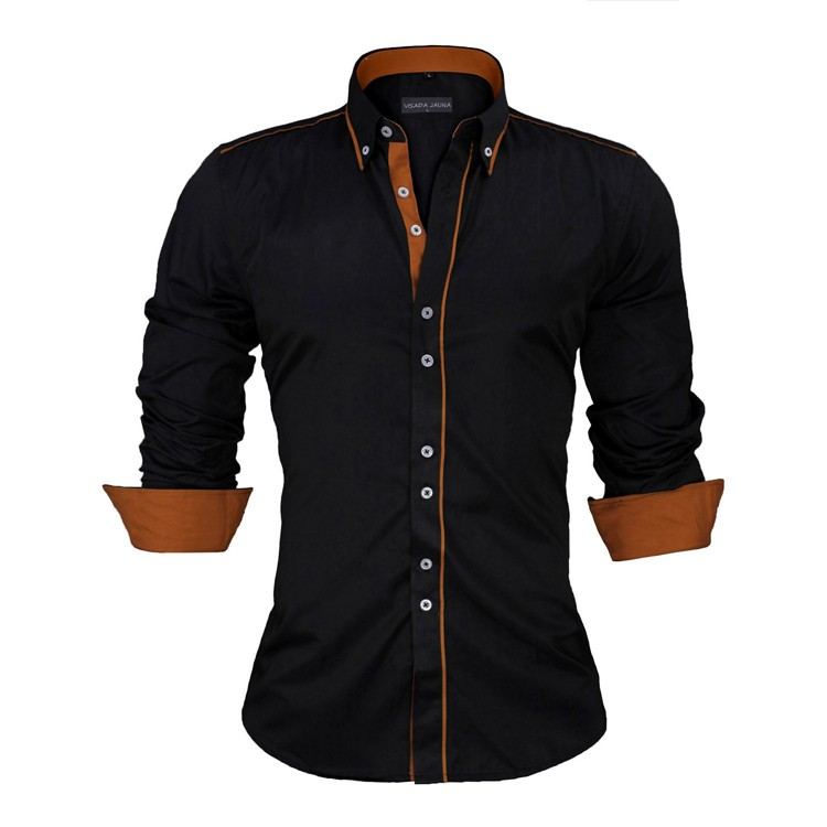 HTB1iRdzKVXXXXXmXpXXq6xXFXXXN - New Arrivals Slim Fit Male Shirt Solid Long Sleeve British Style Cotton Men's Shirt N332