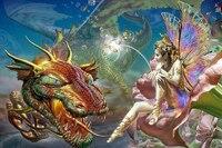 NEW 3D Diy Diamond Painting Full Square Diamond Embroidery Diy 3D Diamond Painting Dragon Fairy For