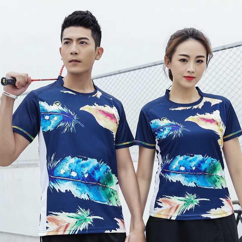 Быстросохнущая дышащая футболка для бадминтона для женщин и мужчин, Спортивная футболка для настольного тенниса, профессиональная командная игра, тренировочная Спортивная одежда для бега, футболки
