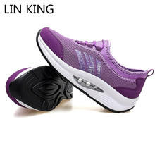 LIN KING New Big Size Breathable Women Casual Swing