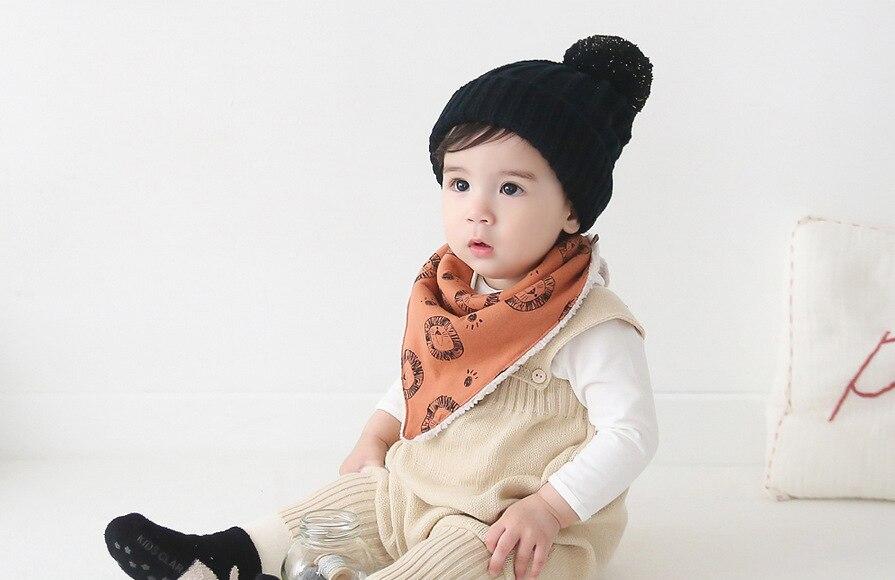 ̿̿̿(•̪ )INS moda invierno del bebé del algodón toalla saliva babero ...