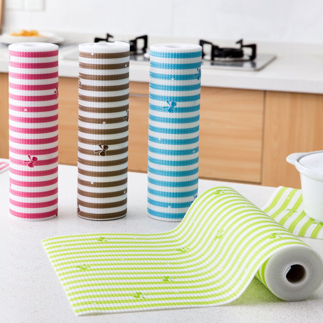30*300cm Multifunction Moistureproof Cupboard Drawer Mats Kitchen Dinning  Table Mat Waterproof Placemats Stove Bowl