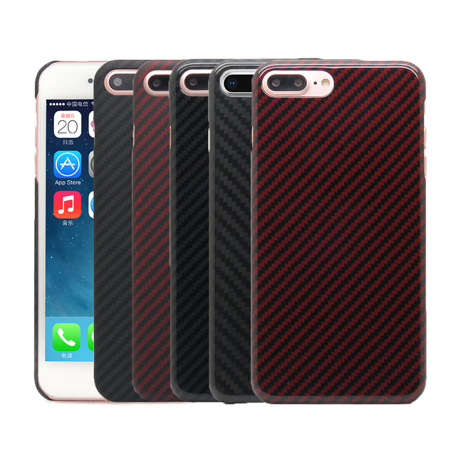 best cheap 8e6cb b2705 US $26.72 19% OFF|100% Real Carbon Fiber Case For iPhone 8 Plus Ultra Thin  Deluxe Aramid Fiber Cover For Apple iPhone 7 Plus New Arrival-in Fitted ...