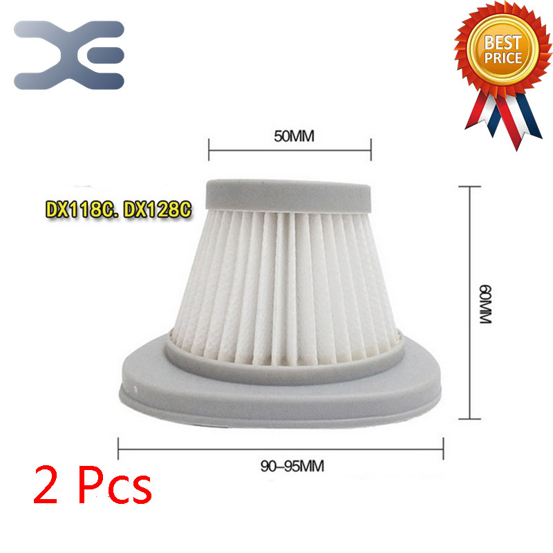 2Pcs Lot High Quality Adaptation For Deerma DX118C / DX128C Vacuum Cleaner Accessories Filter Haipa HEPA Filter