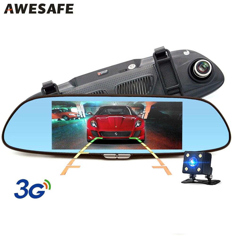 """imágenes para 3G 7 """"DVR coche Espejo de La Cámara Android 5.0 GPS FHD 1080 P Dual Lente Dash cam Video Recorder Espejo Retrovisor Bluetooth Incorporado 16 GB"""