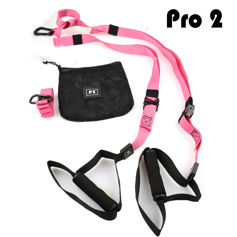 Stretchable Resistance Bands with Height Adjustable Elastic Straps and Handle for Workout and Exercise 1