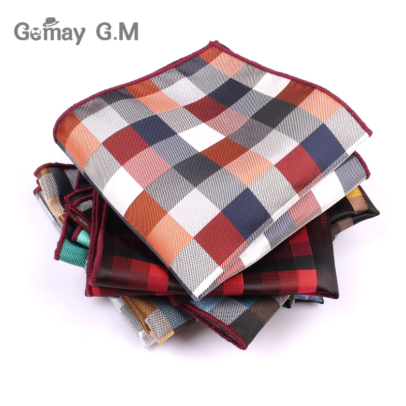 Brand Mens Handkerchief Classic Suits Pocket Square For Men Business Chest Towel Hanky Gentlemen Polyester Yarn Suit Hankies