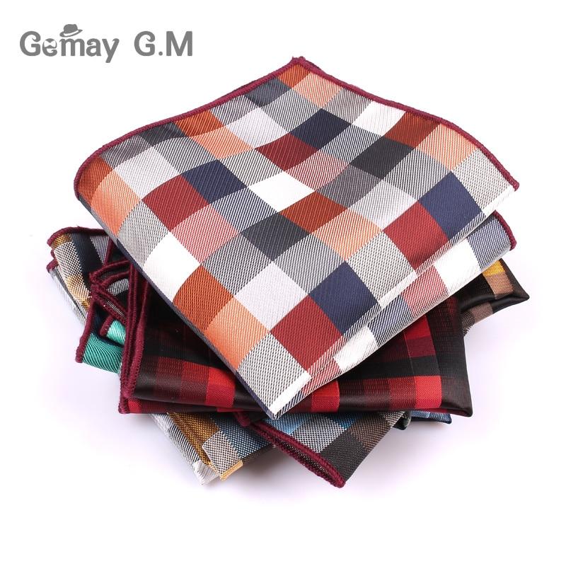 Brand Mens Handkerchief Classic Suits Pocket Square For Men Business Chest Towel Hanky Gentlemen Polyester Yarn Suit Hankies