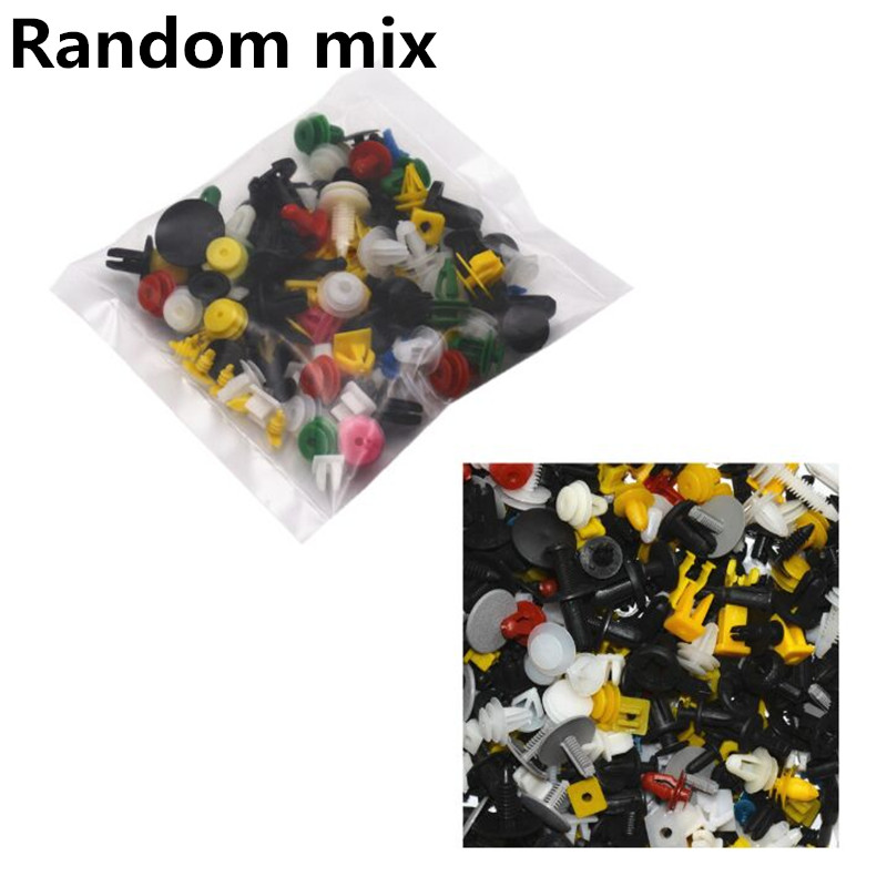100pcs Universal Mixed Clips For Toyota Corolla Avensis Yaris Rav4 Auris Prius Prado Camry Celica Fortuner Venza Highlander
