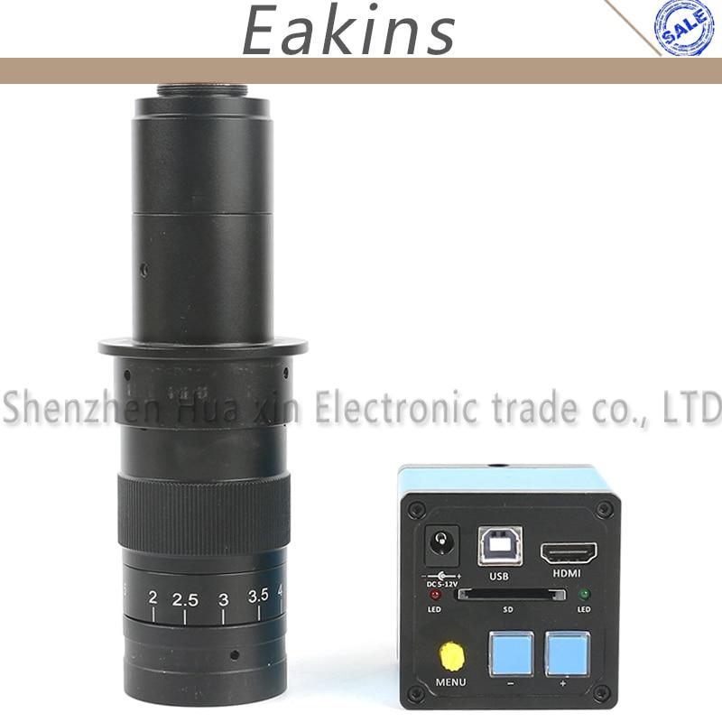 16MP HDMI USB Sony CMOS Sensor HD Digital Industrial Microscope CCD Camera+180X/300X C-MOUT Lens For Phone/PCB Repair