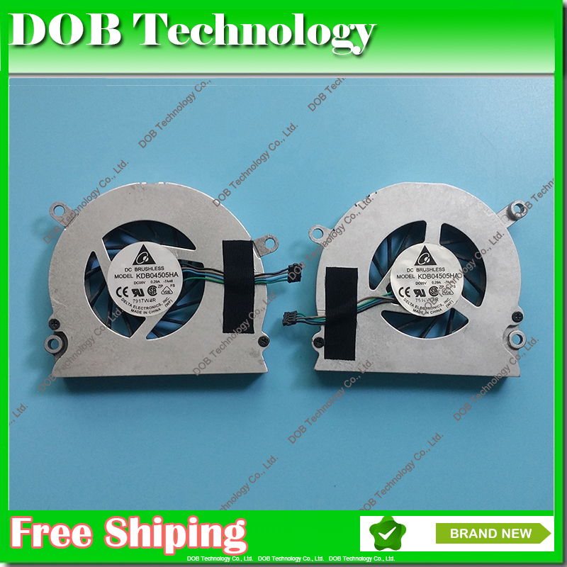 2 pcs /Lot For APPLE MacBook Pro 15.4 C2D A1226 A1211 A1260 Left & Rigt CPU Fans CPU cooling fan hot sale KDB04505HA 7H83 7A48 new laptop uk keyboard for apple mackbook pro 15 a1260 a1211 a1226 wholesale