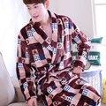 Pajamas Pajama Pyjamas PJS Sleepwear Robe Man Nightgown thickening coral fleece velvet men sleepwear pajama sleepwear XXXL