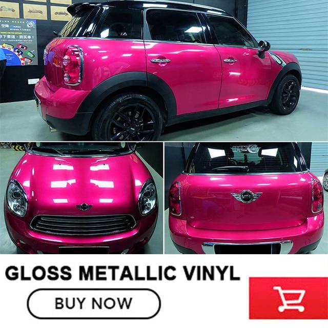 2017 nouvelle s rie de voiture de vinyle wrap brillant m tallique rose rouge auto d coration de. Black Bedroom Furniture Sets. Home Design Ideas