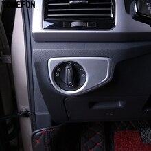 Для Volkswagen VW Teramont Atlas 2017 2018 авто аксессуары ABS салона фар Управление переключатель крышка декоративная рамка