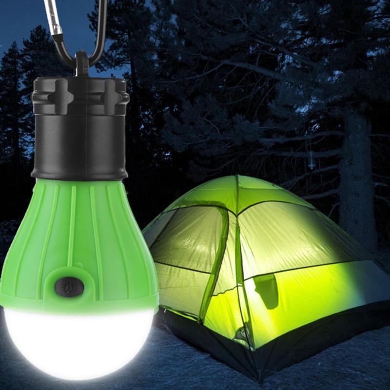 3 LED Mini Portable Latern Tent Lamp LED Bulb Waterproof Hanking Hook Flashlight For Camping Emergency Hiking Light Use 3*AAA