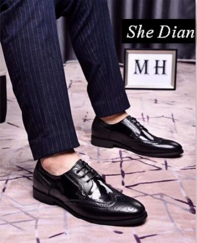 Confortable Qualité Hommes Dian Color Pic En Lacent Cuir Pointu Color pic Véritable 2018 Robe Bout Elle Haute Chaussures xOPHIId