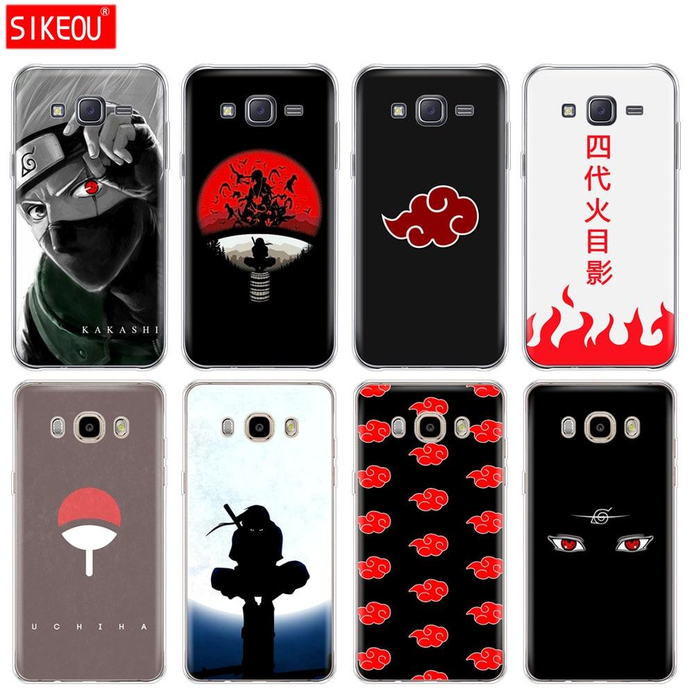 silicone cover phone case for Samsung Galaxy J1 J2 J3 J5 J7 MINI 2016 2015 prime Anime Naruto Naruto Minimalist