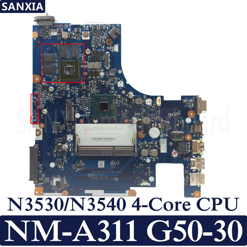 KEFU <font><b>NM</b></font>-<font><b>A311</b></font> Laptop motherboard for Lenovo G50-30 original mainboarrd N3530/N3540 CPU with Video card image