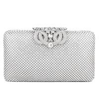 New Arrival Amasie Lock Design women Evening Bag Clutch Diamonds Stunning Fashion Lady Purse Hollow Out Hand Purse EGT0339