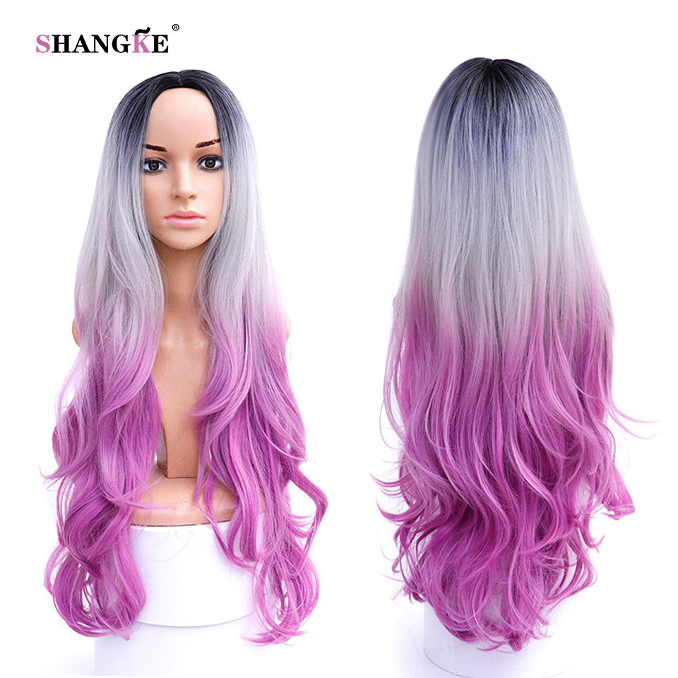 32 Quot Long Ombre Colored Pink Wig Cosplay Cheap Long Curly