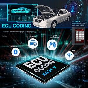 Image 4 - Launch X431 V 8 인치 자동차 전체 시스템 OBD2 스캐너 진단 자동 도구 OBDII 코드 리더 지원 블루투스/와이파이 다국어