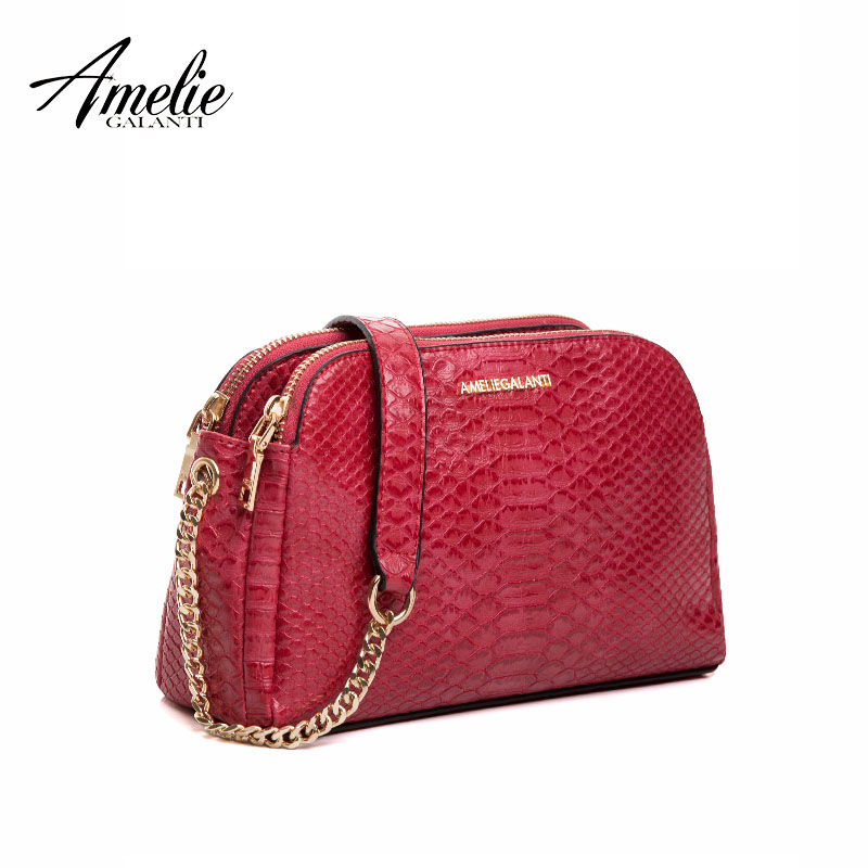 AMELIE GALANTI new fashion messenger bags for women famous design crossbody bags serpentine zipper soft pu falp bag lady 2017