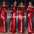 2017 High Quality African Lace Fabric Gold , Red French Net Embroidery Sequins Tulle Lace Fabric For Nigerian Party M1041