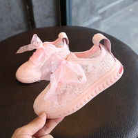 2018 new 16.5 18.5CM 2018 Girls Fashion Breathable Shoe Children Lace Bow Sport Sneaker Baby Girl Casual Shoes White Trainer