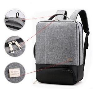 Image 3 - 남자 배낭 다기능 안티 절도 노트북 학생 Bagpack 노트북 USB 충전 방수 망 백 팩 비즈니스 남성 가방