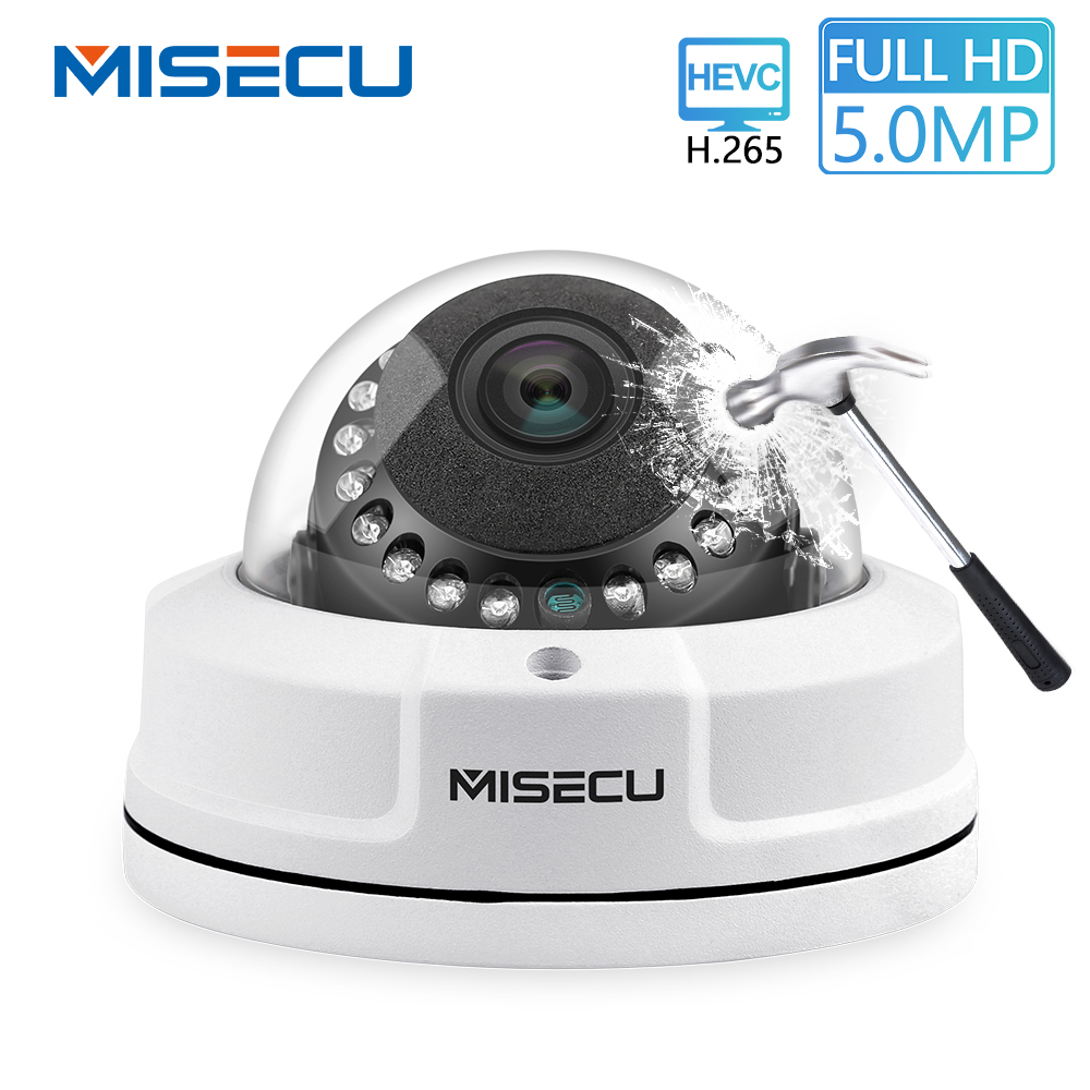 MISECU H.265 48 V IP POE Sicherheit Kamera Dome Indoor Vandalproof Wasserdichte Video Überwachung Kameras IR 25 M 5MP 4MP 3MP 2MP