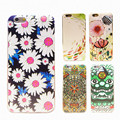 Flower Aminal totem Phone Case For Iphone 7 6 6S 5 5S SE 7Plus 6sPlus Case Ethnic Style painted transparent TPU shell