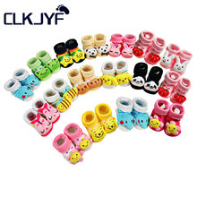 Cotton Baby Socks Christmas Socks For Newborns Gift Animal Lot Anti Slip With Rubber Soles For