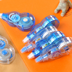 6 unidades/pacote fita adesiva branca do rolo 8m x 5mm da fita da correção para a fita do apagador do erro do estudante material de escritório escolar artigos de papelaria