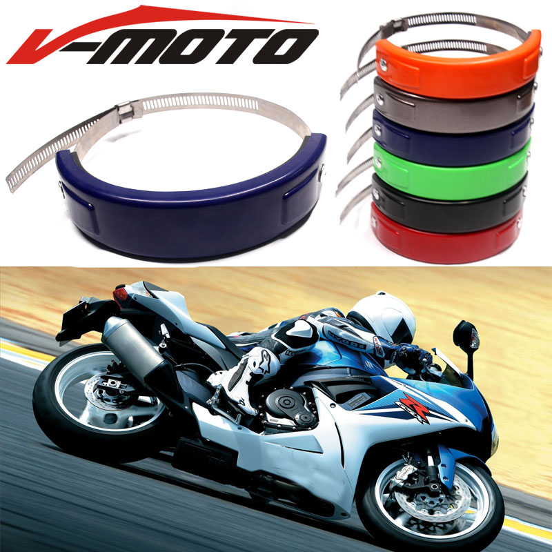 Hot sell For SUZUKI GS500 GS 500E /F K4 GS 500 Accessories Silencer/Round Oval Exhaust Protector Can Cover