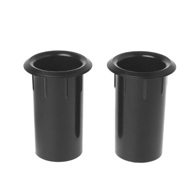 4 polegadas de plástico preto subwoofer woofer alto-falantes portas conectores tubo inversor alto-falante ventilação
