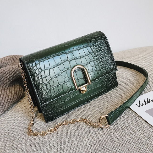 c6d479dac5 Crocodile Pattern Crossbody Bags For Women 2019 Small Chain Handbags PU  Leather Hand Bag Ladies Designer