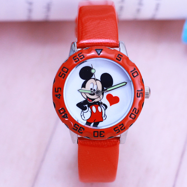 2018 Cartoon Lovely Kids Girls Boys Fashion Children mickey Quartz Watch Sports