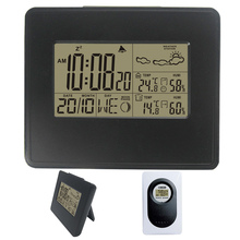 Plain Wireless RF Weather Station Black with Backlight Digital Clock Barometer Indoor Outdoor Temperature Humidity Home/Office стоимость