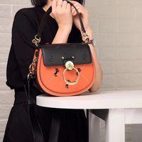 ALNEED Luxury Women Bags 2018 Designer Brand Saddle Bag Leather Ladies Crossbody Bag Fashion Ring Shoulder Bag Vintage Handbag