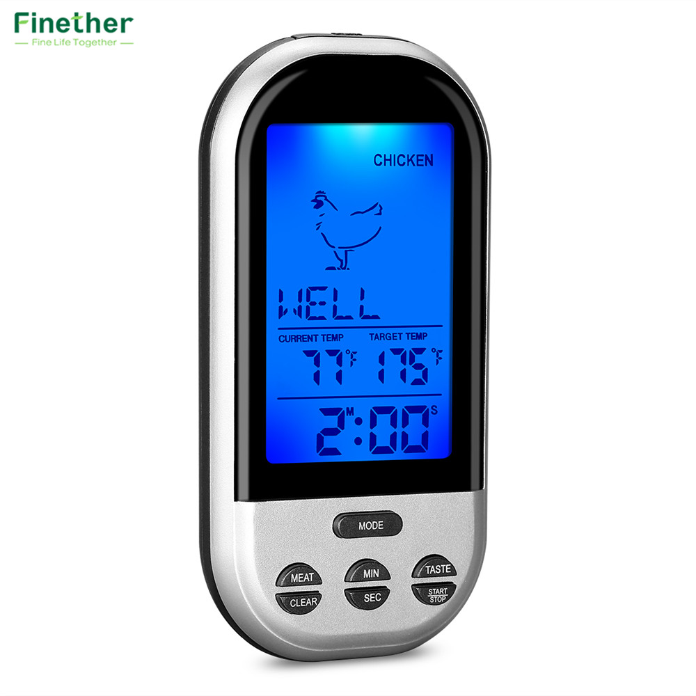 Wireless Food Cooking Thermometer LCD Barbecue Timer Digital Probe Meat Thermometer BBQ Temperature Gauge Kitchen Cooking Tools8