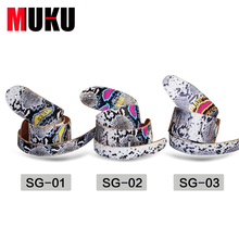MUKU NEW ARRIVAL soft and beautiful snake pattern straps 100% handmade guitar / electric guitar / bass straps crafted Wide 2.95