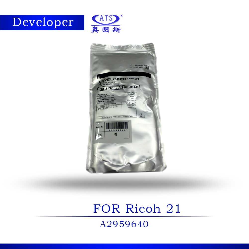 1000G Ricoh TYPE 21 Toner Photocopy machine Developer For Ricoh AFicio 1085 1075 551 A2959640 Developer Powder copier part cs rsp3300 toner laser cartridge for ricoh aficio sp3300d sp 3300d 3300 406212 bk 5k pages free shipping by fedex