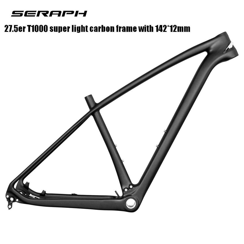 Super Light  New MTB Bike 27.5er T800 Full Carbon Frame 142x12 Thru Axle MTB Carbon Frame 27.5er 135x9 Compatible